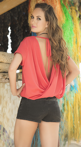 Open Back Draped Top