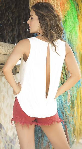 Chic Keyhole Tank Top