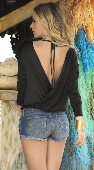 Plunging Wrap Top