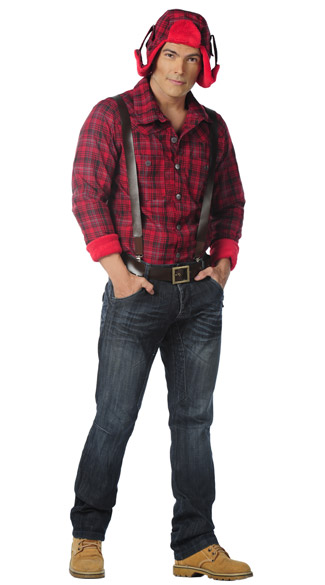 Paul Bunyan Costume, Men\'s Lumberjack Costume, Paul Bunyan Halloween Costume