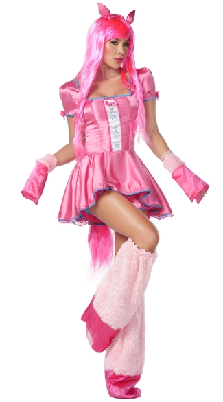 Pink Pony Costume, Pony Halloween Costume, Pony Cartoon Costume