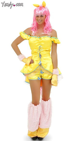 Yellow Pony Costume, Pony Halloween Costume, Pony Cartoon Costume