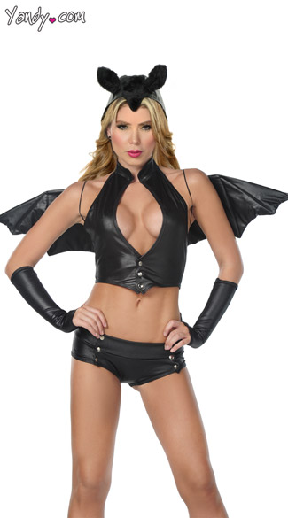 Sexy Bat Costume, Bat Woman Costume, Bat Halloween Costume