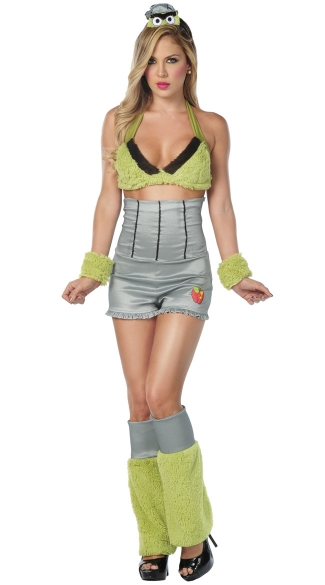 Sexy Grouchy Costume, Trash Can Costume, Trash Can Halloween Costume