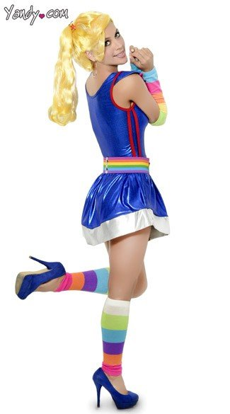Rainbow Doll Costume
