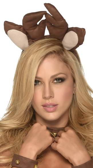 Rudolf Head Piece, Antler Head Piece, Christmas Costume Accessory