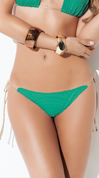 Exclusive Turquoise Crochet String Bikini Bottom