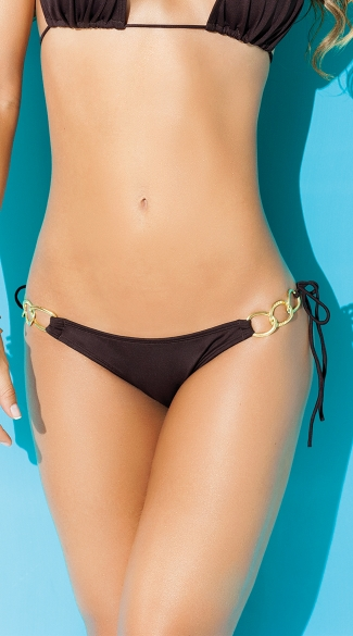 Exclusive Gold Chained String Bikini Bottom