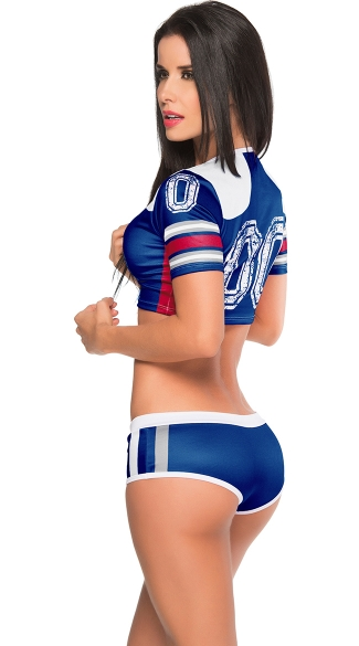 Blue and Red Fantasy Football Costume