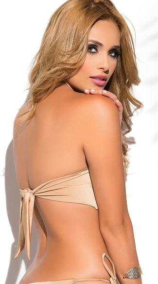 Yandy Twisted Bandeau Bikini Top