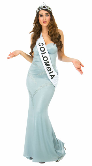 Miss Almost Won Costume, Miss Colombia Costume, Pageant Queen Costume