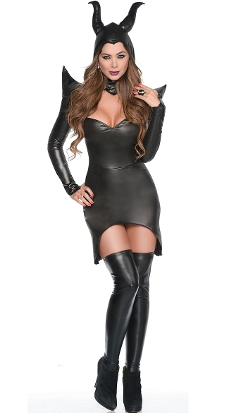Dark Sorceress Costume, Evil Witch Halloween Costume, Sexy Dark Witch Costume