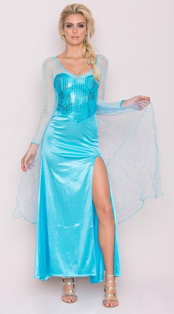 yandy frost queen costume sequin blue dress halloween costume sexy dress costume - Blue Halloween Dress