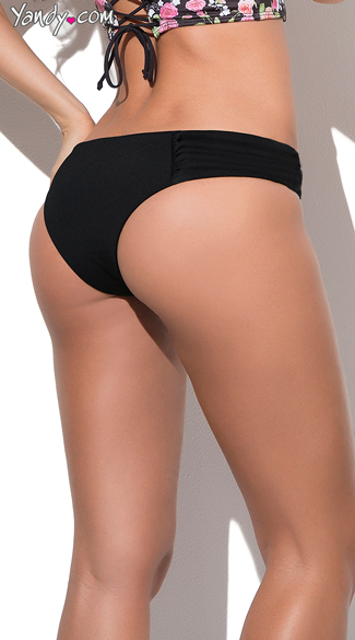 Black Hipkini Bathing Suit Bottom