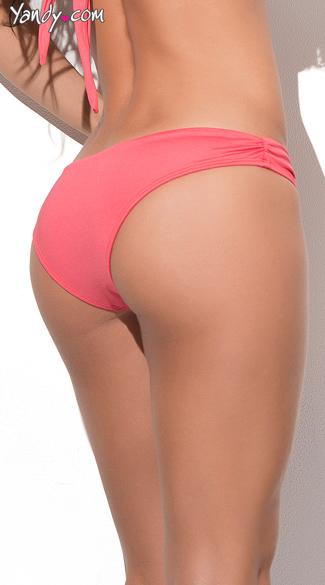 cinched bikini bottom