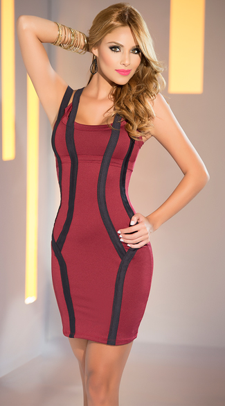 Curvy Burgundy Club Dress