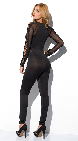 Sheer Netted Jumpsuit