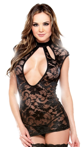 Lace Open Front Chemise