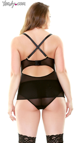 Plus Size Madison Corset and Panty Set