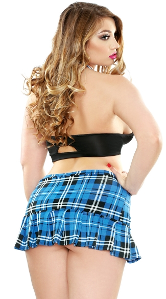 Plus Size Saucy Schoolgirl Lingerie Costume