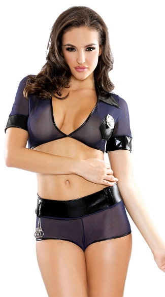 Read My Rights Lingerie Cop Costume