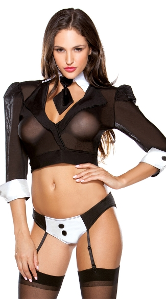 The Boss Lingerie Costume, Mobster Lingerie Costume, Gangster Bedroom Costume