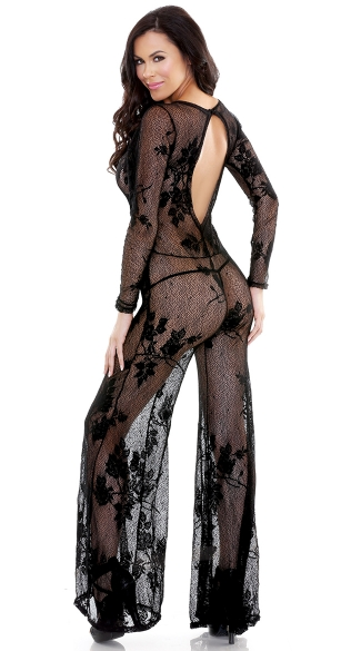 Stretch Floral Lace Jumpsuit