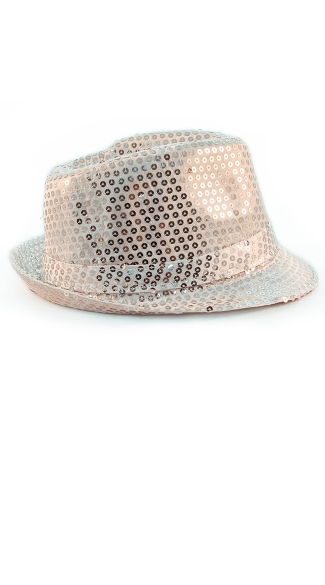 Sparkly Fedora With Flashing LED Lights