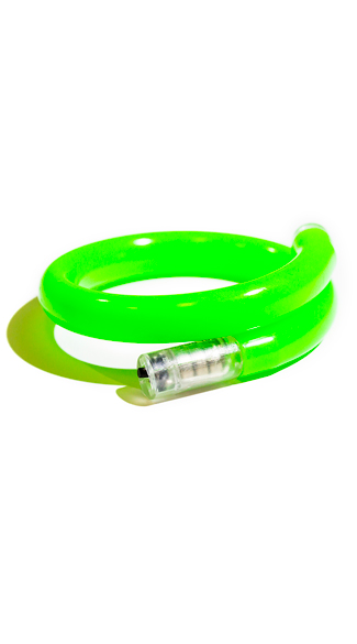 Flashing LED Tube Wrap Bracelets