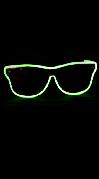 Light Up Hipster Shades, Ray Ban Sunglasses, El Wire Lights