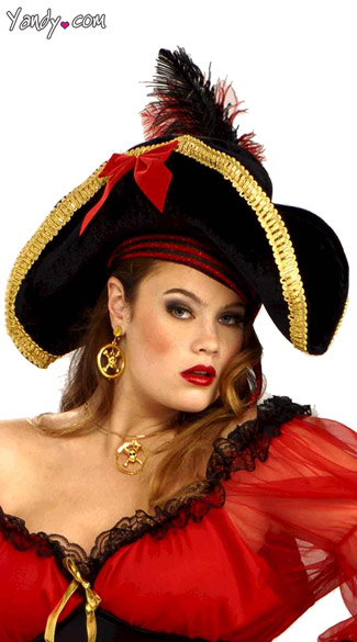 Lady Buccaneer Pirate Hat, Pirate Captain Hat, Pirate Woman Hat
