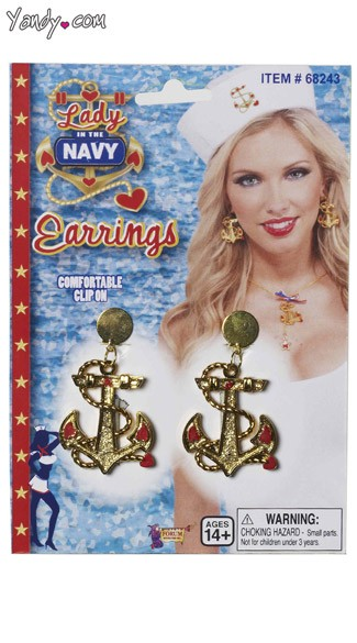 Lady In The Navy Earrings
