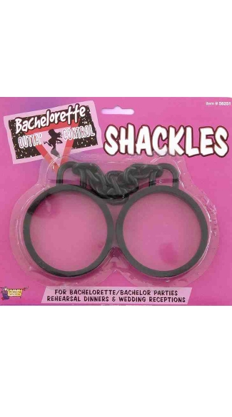 Bachelorette Shackles, Black Fake Handcuffs, Wedding Shackles