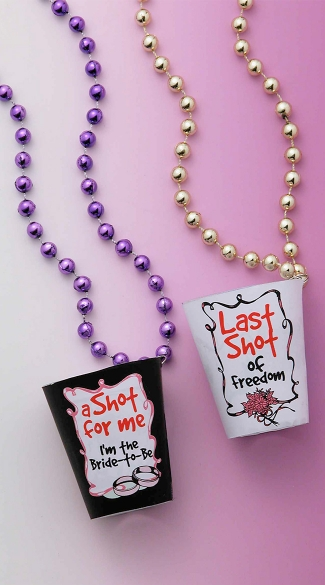 Bachelorette Beaded Shot Necklace