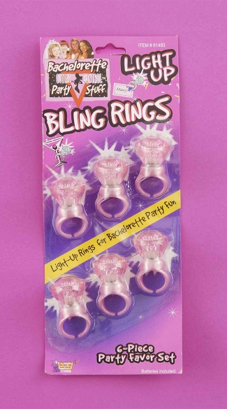 Light Up Adjustable Bling Rings, Glow In The Dark Party Favors, Cheap Bachelorette Party Favors