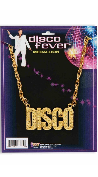 Disco Dreaming Necklace, 70\'s Necklace, Disco Letter Necklace