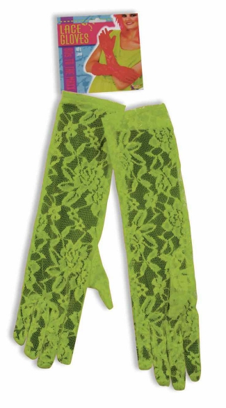 Green Neon Lace Gloves