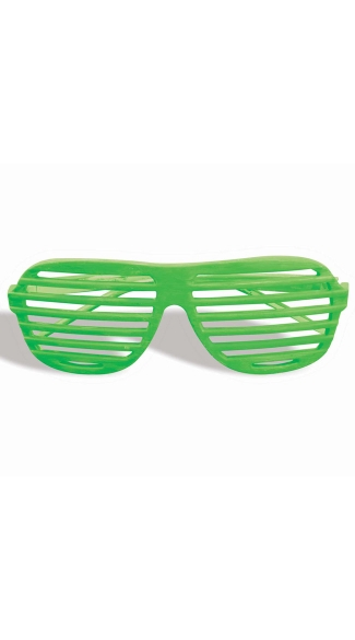 Neon Green Slotted Glasses