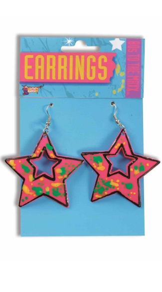 80\'s Star Earrings