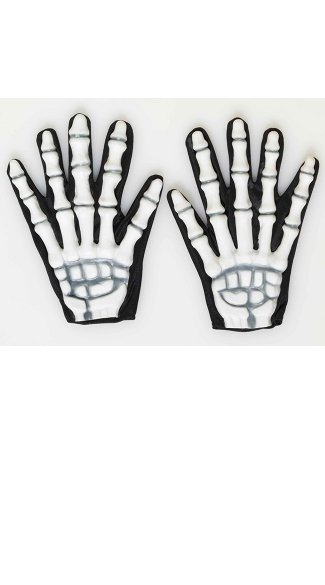 Skeleton Gloves, Gloves with Bones, Bone Printed Skeleton Hand Gloves