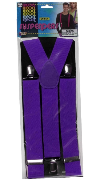 Neon Purple Suspenders, Neon Accessories, Suspenders, Neon Clothing