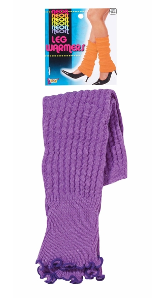Neon Purple Leg Warmers