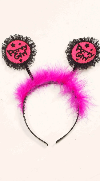 Party Girl Headband, Pink Party Headband, Birthday Girl Head Band