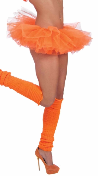 Neon Orange Tutu, Neon Orange Petticoat, Neon Colored Tutu, Neon Accessories, Neon Skirts