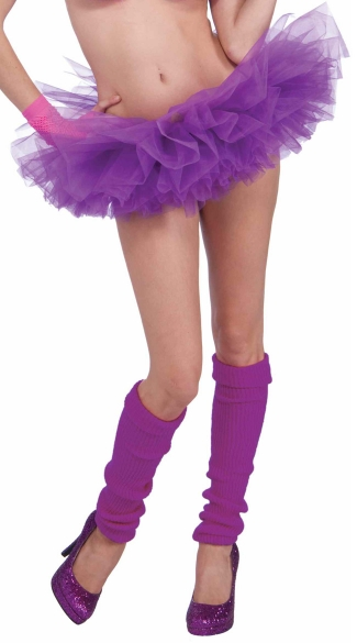 Neon Purple Tutu, Neon Purple Petticoat, Neon Colored Tutu, Neon Accessories, Neon Skirts