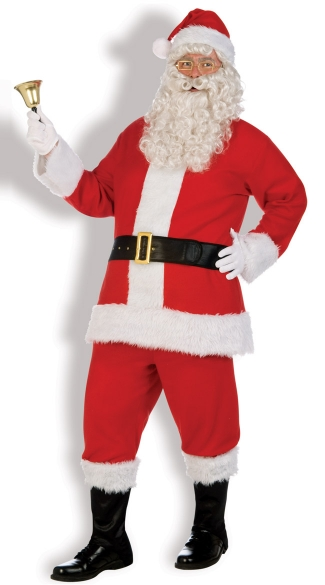 Flannel Santa Suit Costume, Red Santa Costume