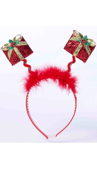 Holiday Presents Headband, Hair Accessories For Girls, Feather Hair Accessories