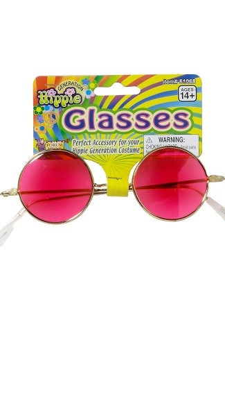 Pink Hippie Glasses, Hot Pink Sunglasses, Pink Sunglasses
