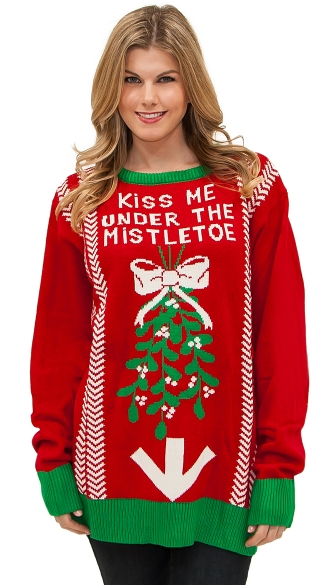 the Mistletoe Sweater, Ugly Christmas Sweater, Mens Christmas ...