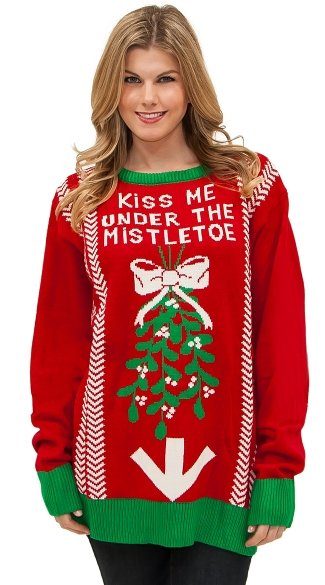 Under the Mistletoe Sweater, Ugly Christmas Sweater, Mens Christmas Sweater, Funny Christmas Sweater